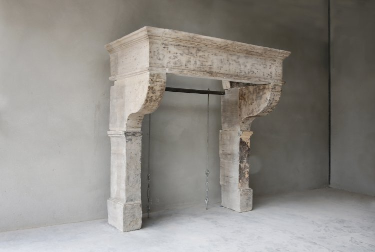 robust 19th century fireplace