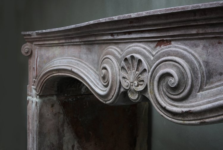 antique fireplace of marble