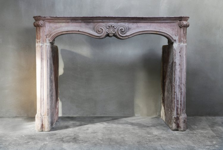 antique marble stone mantel