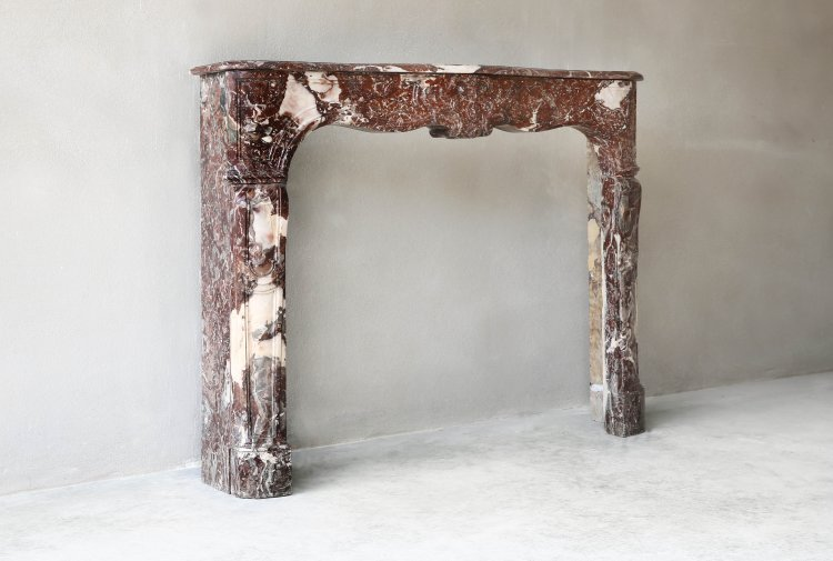 Unique marble fireplace