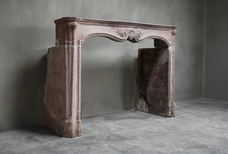 antique mantel of french marble Vosges