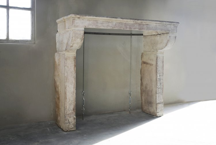 19th century antique fireplace