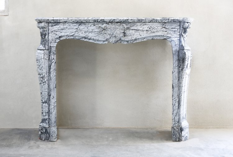 antique fireplace Louis XV