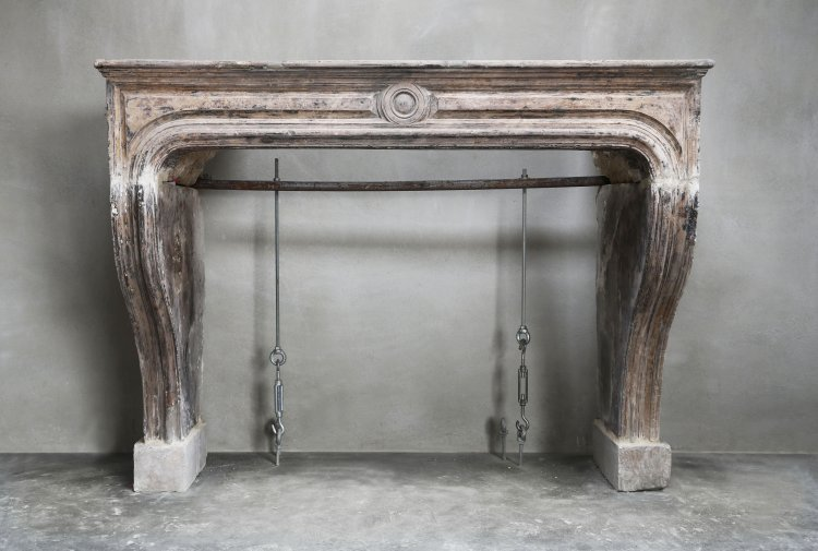 antique fireplace from France