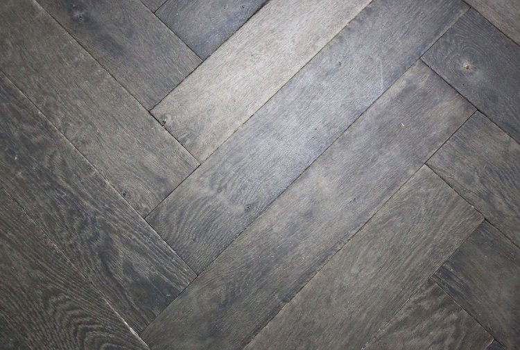 old herringbone floor