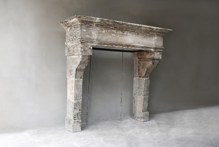 mantelpiece of french limestone
