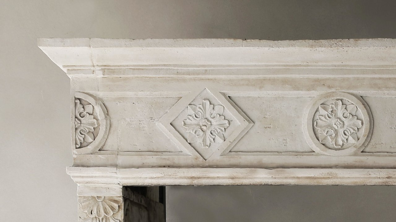 antique fireplace limestone