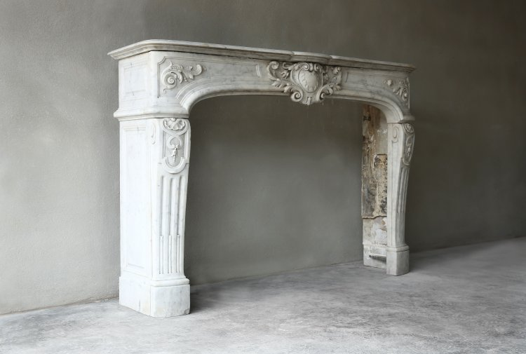 Antique marble fireplace