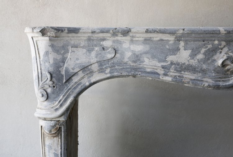 Louis XV mantel fireplace