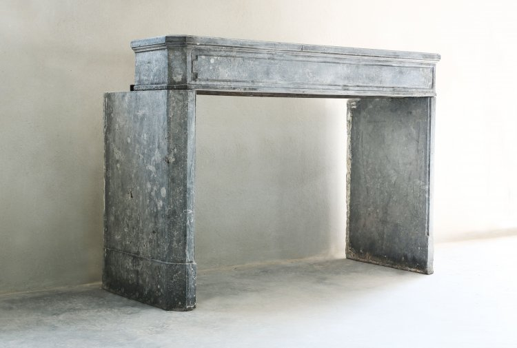 antique marble stone fireplace