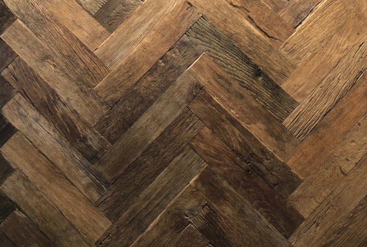 old oak herringbone floor