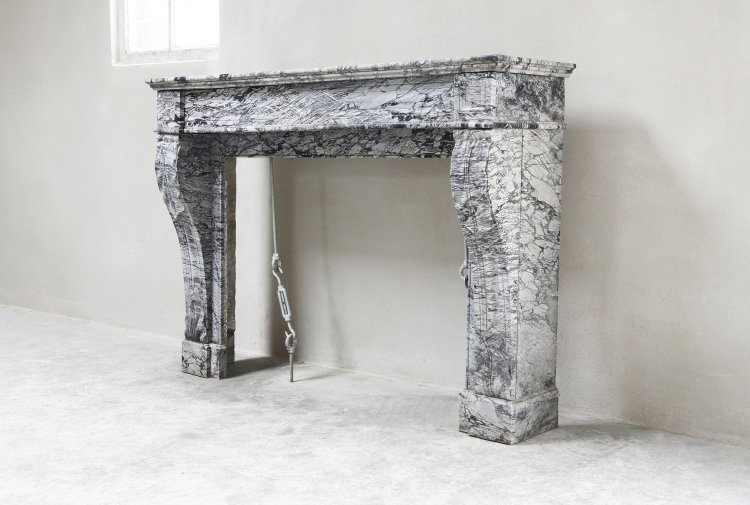old mantelpiece of marble