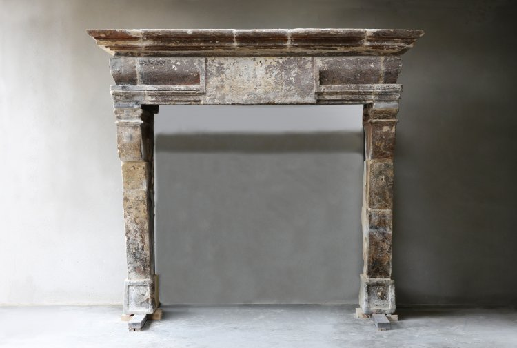 antique french castle fireplace