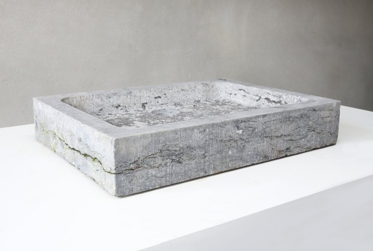 antique sink of belgian bluestone