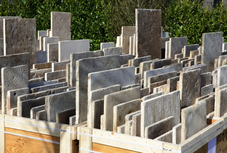 reclaimed french limestone slabs